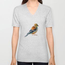 Goldfinch (Winter Feathers) Unisex V-Neck