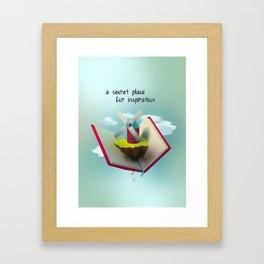A secret place for inspiration Framed Art Print