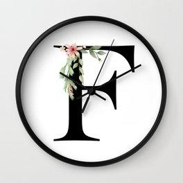 Botanical F Wall Clock