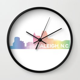 Raleigh Skyline Wall Clock