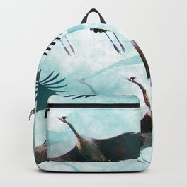 Abstract Whooping Cranes Backpack