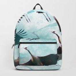Whooping Cranes in Flight #decor #society6 #buyart Backpack