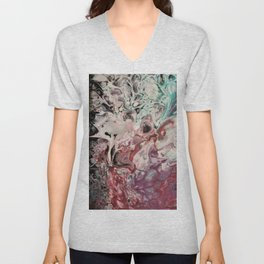 Soft Whispers of Garden Fairies Unisex V-Neck
