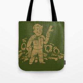 Fallout Vault Boy With Gun Tote Bag