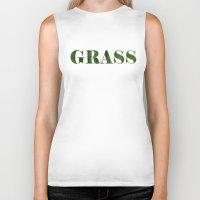 grass Biker Tanks featuring grass by Кaterina Кalinich