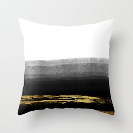 Black & Gold Stripes on White - Mix & Match with Simplicty of life Throw Pillow