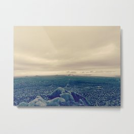 one way ticket to the mountain Metal Print