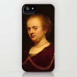 Rembrandt - Portrait of a Young Woman (1634) iPhone Case