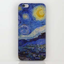 The Starry Night by Vincent van Gogh (1889) iPhone Skin