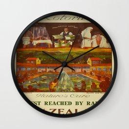 Vintage poster - Rotorua Wall Clock