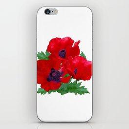 Red oriental poppies iPhone Skin