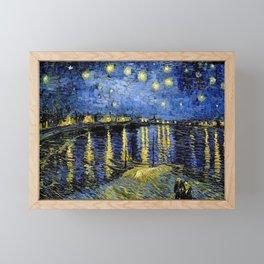 Vincent Van Gogh Starry Night Framed Mini Art Print