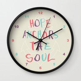 Hope Anchors the Soul Wall Clock