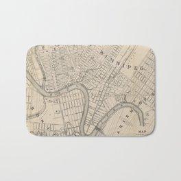 Vintage Map of Winnipeg Canada (1882) Bath Mat