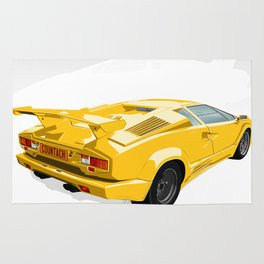 Lamborghini Countach - 25th Anniversary Edition Rug