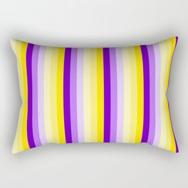 Complementary Color Harmony...yellow purple Rectangular Pillow