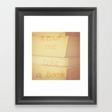 Read Me Framed Art Print