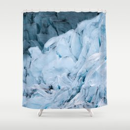 Blue Glacier in Norway - Landscape Photography Shower Curtain