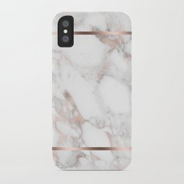 Luxury Rose-gold Faux Marble iPhone Case