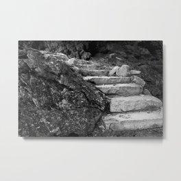 Stone Steps Metal Print