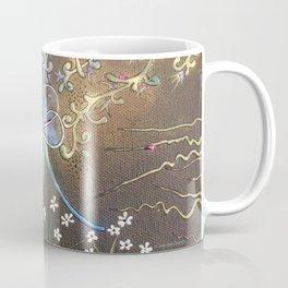 Dragonfly in Mind Garden at Midnight Coffee Mug