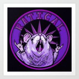 Ratty Purp Art Print