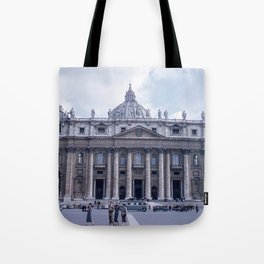 Vintage Color Photo * Kodachrome * St Peter's Basilica * 1950's * Vatican * Rome * Italy Tote Bag