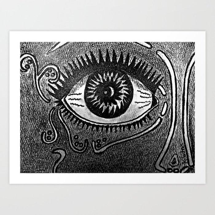 Abstract Eye Art Print By Kathleensartoris