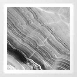 Shades of grey marble Art Print
