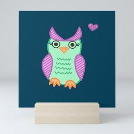 I heart owls. Mini Art Print