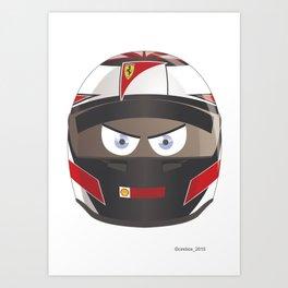 Kimi RAIKKONEN_2015_Helmet #7 Art Print