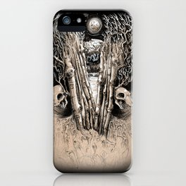 WINTERY GRAVE iPhone Case