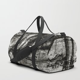 Breaking Loose - Charcoal on Newspaper Figure Drawing Duffle Bag
