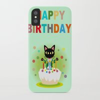 happy birthday iPhone & iPod Cases featuring Happy Birthday! by BATKEI