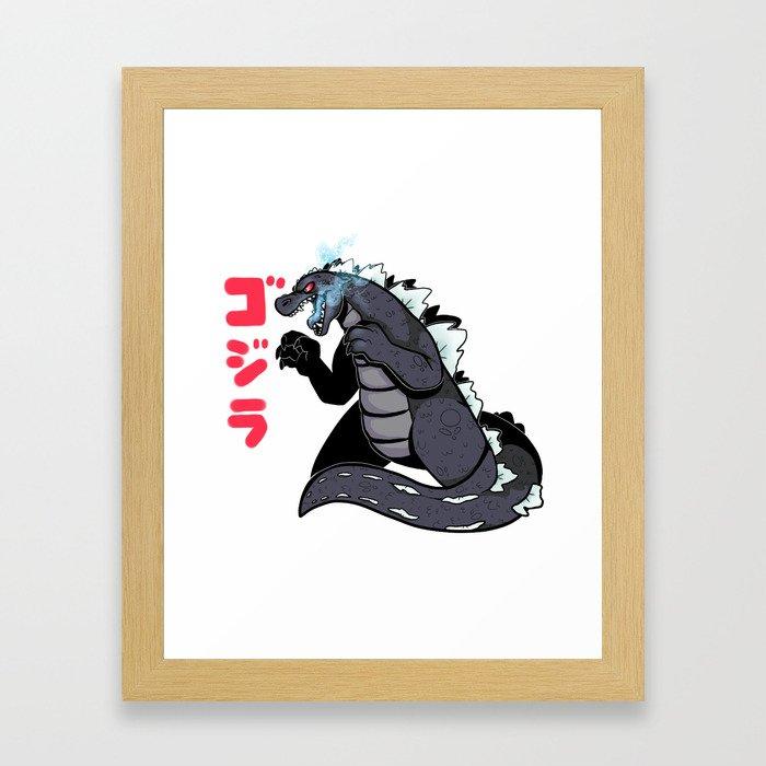 King of the Monsters Framed Art Print