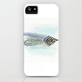 Grey Ghost Streamer Fly iPhone Case