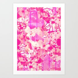 Cherry Bomb Stripe Art Print