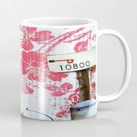 popeye Mugs featuring Double Shot by Natasha N. Walker