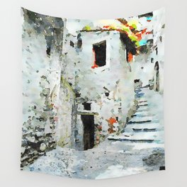 Glimpse with staircase Wall Tapestry