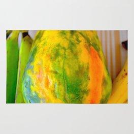 Fruit design with luscious papaya Rug