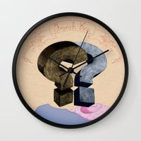 french kiss. question series Wall Clock