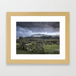 Castlerigg stone circle Framed Art Print