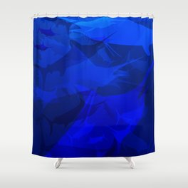 Marlin Blues Shower Curtain