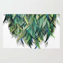 """Spring Forest of Surreal Leaf"" Rug"