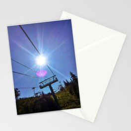 Chairlift Sunburst at Sugarloaf Mountain, Maine Stationery Cards