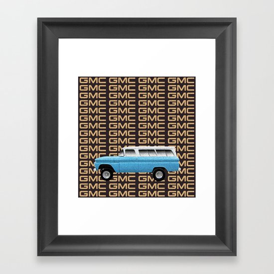 GMC trucks - Chev Suburban tribute to one of the first truck based SUV's Framed Art Print