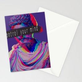 Control your mind vaporwave statue Marcus Aurelius Stationery Cards