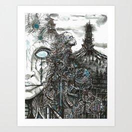 Cybertopia Art Print