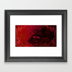 Kabuto with Mempo Framed Art Print