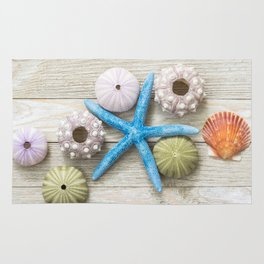 Blue Starfish and Friends Rug